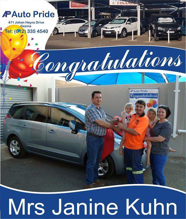 Baie geluk met jou nuwe voertuig Mnr & Mev Kuhn, ma...