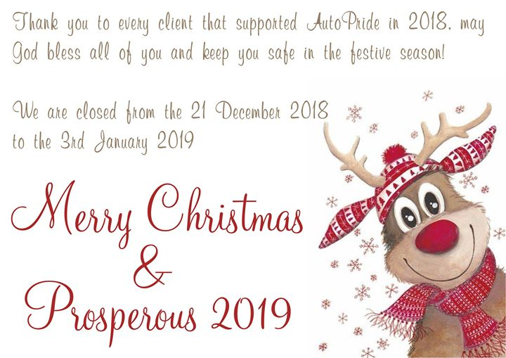 We are closed from the 21 December 2018 to the 3rd Janu...