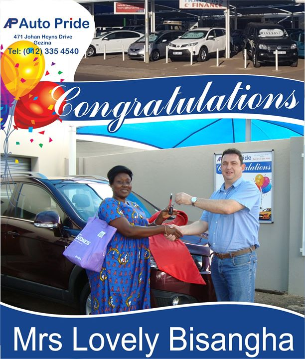 Congratulations with your new vehicle Mrs Lovely Bisang...