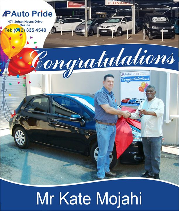 Congratulations with your new vehicle Mr Kate Mojahi, e...