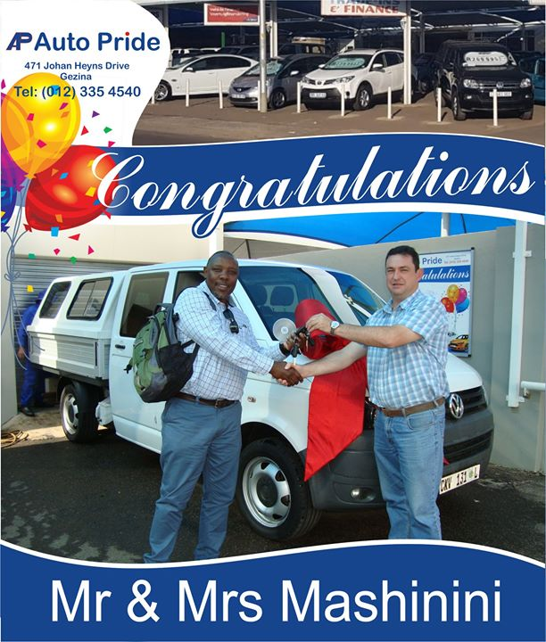 Congratulations with your new vehicle Mr & Mrs Mashinin...