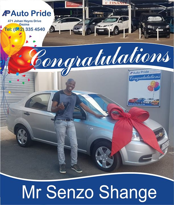 Congratulations with your new vehicle Mr Senzo Praisego...