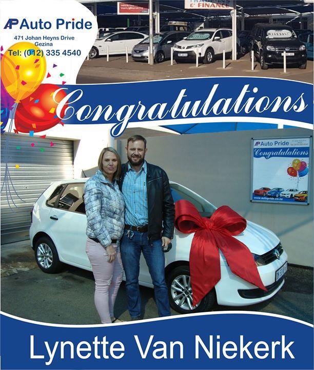 Baie geluk met jou nuwe voertuig Lynette Van Niekerk, m...