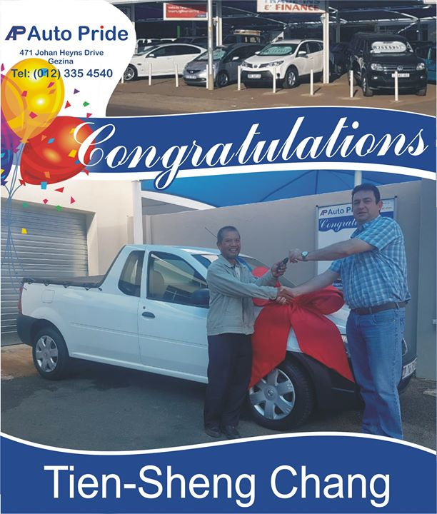Congratulations with your new vehicle Tien-Sheng Chang,...