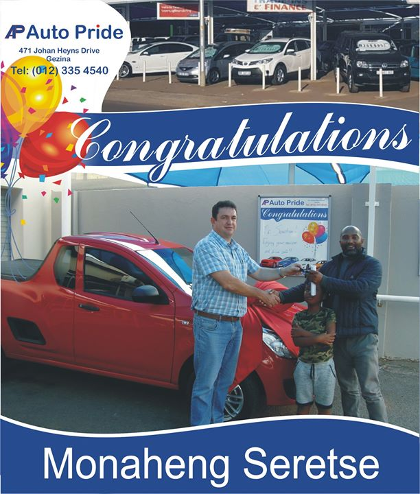 Congratulations with your new vehicle Monaheng Seretse,...