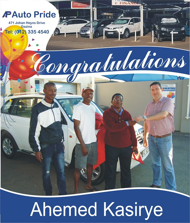 Congratulations with your new vehicle Ahemed Kasirye, e...