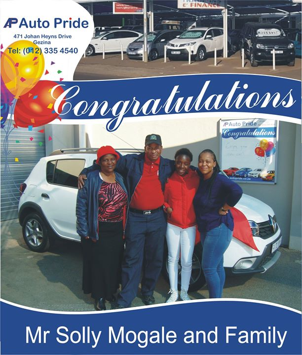 Congratulations with your new vehicle Solly Mogale ,enj...
