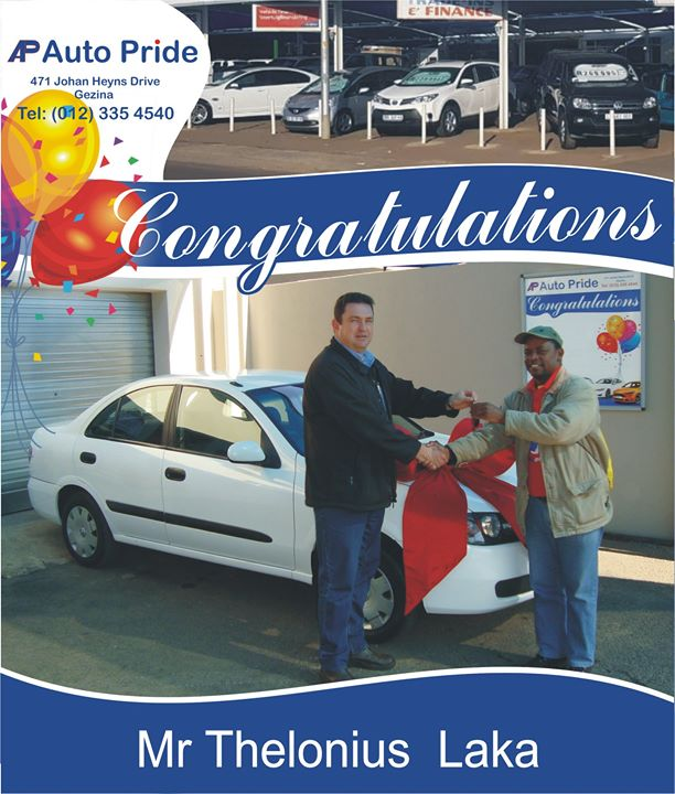 Congratulations with your new vehicle Thelonius Laka & ...