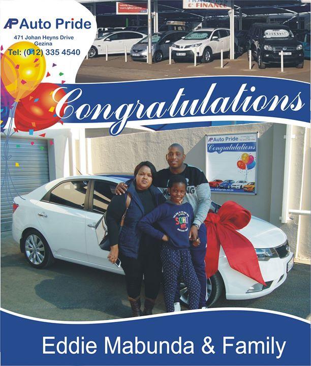 Congratulations with your new vehicle Eddie Mabunda & F...