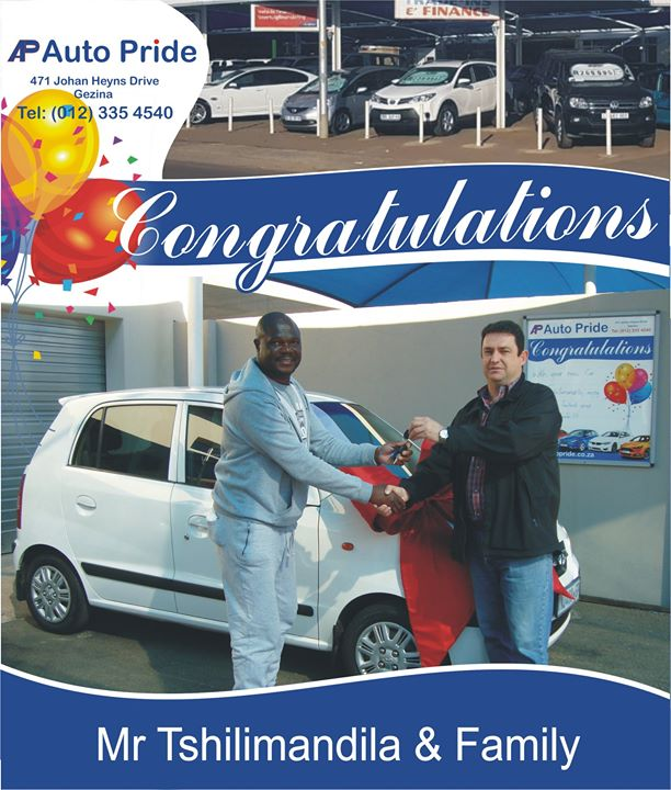 Congratulations with your new vehicle Mr Tshilimandila ...